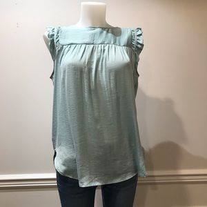 Loft Baby Blue Short Sleeve Super Soft Blouse